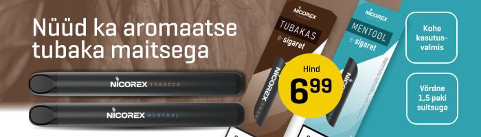 IQOS või Nicorex e-sigaret