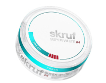 SKRUF Super White #4 <br> SNUS
