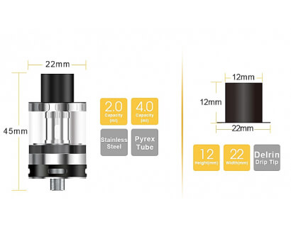 Aspire Atlantis EVO sub-ohm tank 2ml